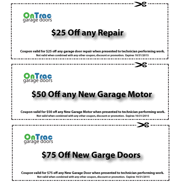 Wilmington Garage Door Service Discount Coupons